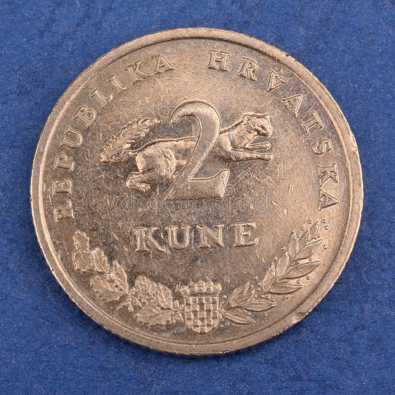 Download Croatian metal coin stock image. Image of spend, payment - 24282481