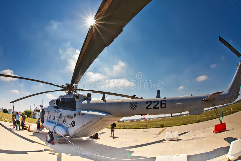 Croatian military helicopter Mi-171sh royalty free stock images