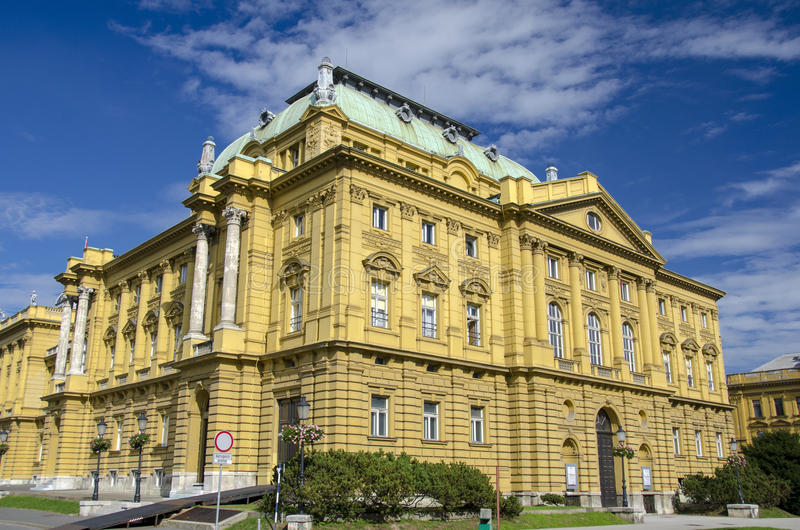 Download Croatian National Theater, Zagreb Stock Image - Image: 29639463