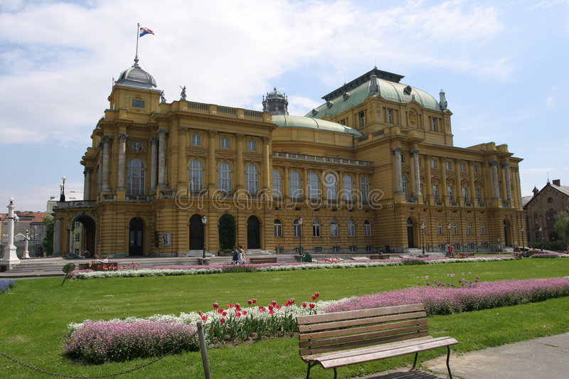 Download The Croatian National Theatre In Zagreb Royalty Free Stock Photography - Image: 552017