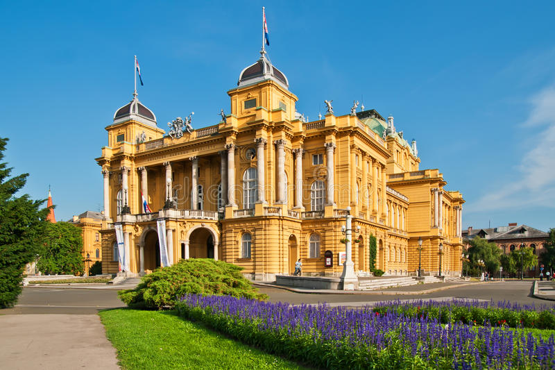 Croatian National Theatre in Zagreb, Croatia stock photography