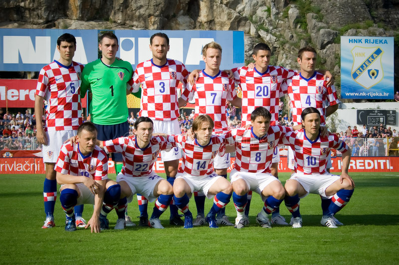 Download Croatian soccer selection editorial stock photo. Image of grass - 6203088