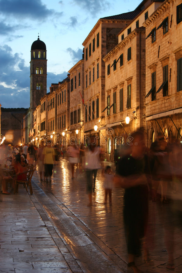 Download Croatian Street stock image. Image of holiday, road, tower - 1319705