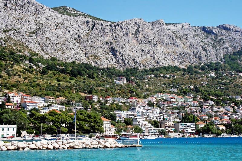 Download Croatian town Omis stock photo. Image of europe, lagoon - 21556420