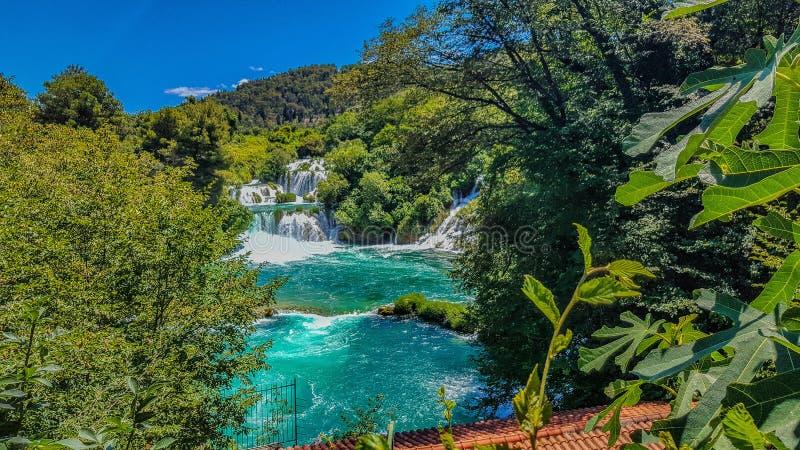 Croatian Waterfalls royalty free stock photos
