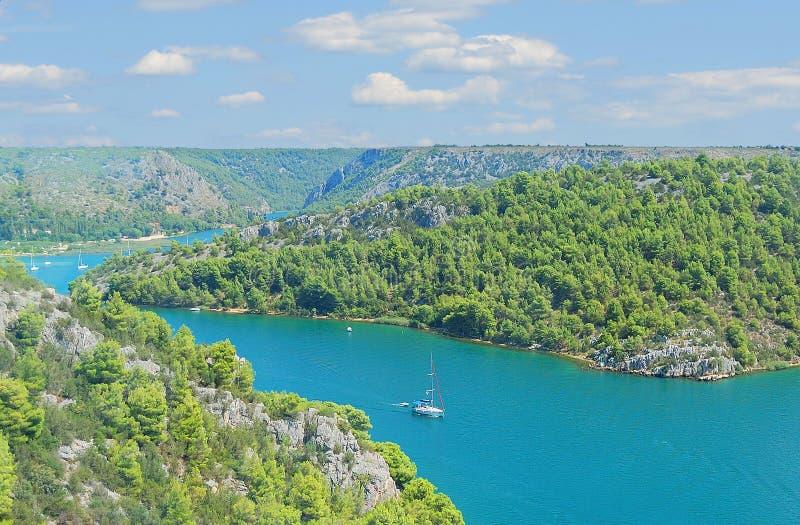 croazia panorama zdjęcie stock