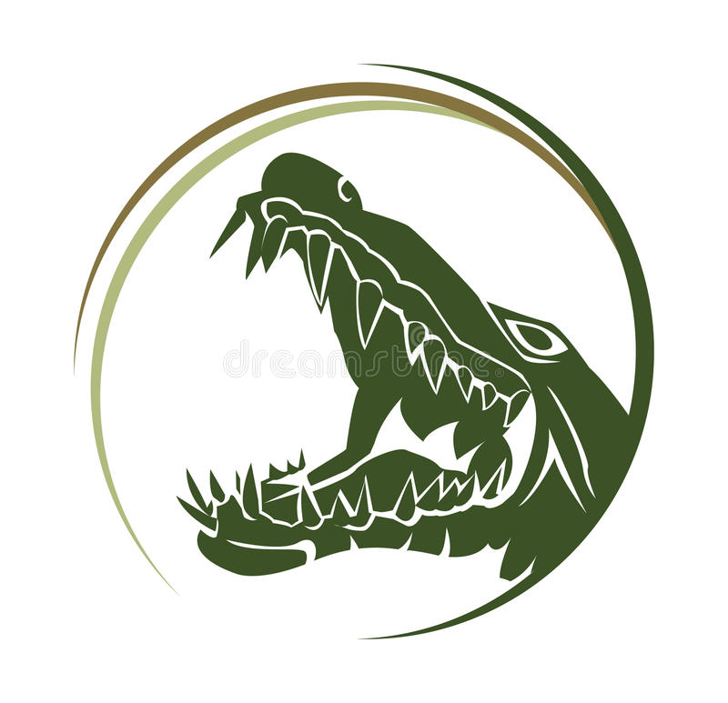 Croc royalty free illustration