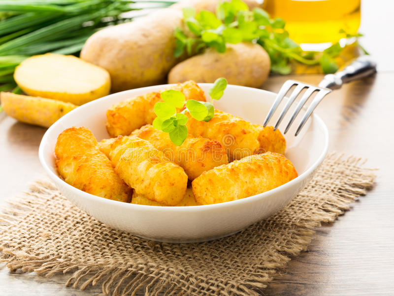 Crocchette della patata fotografie stock libere da diritti