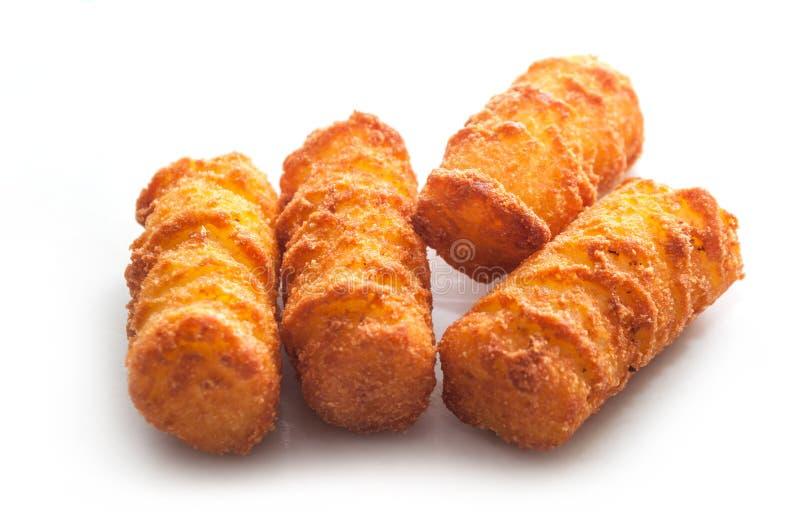 crocchette della patata su fondo bianco immagine stock