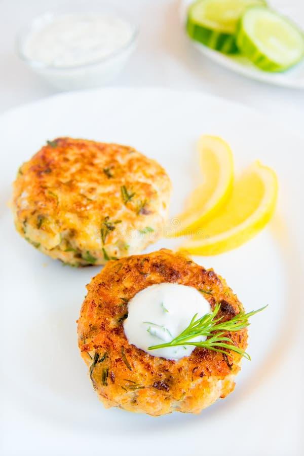 Crocchette di pesce (cotolette) fotografia stock