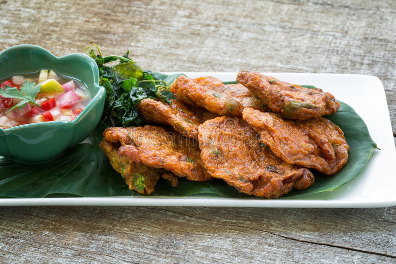 Crocchette di pesce della Tailandia fotografia stock libera da diritti