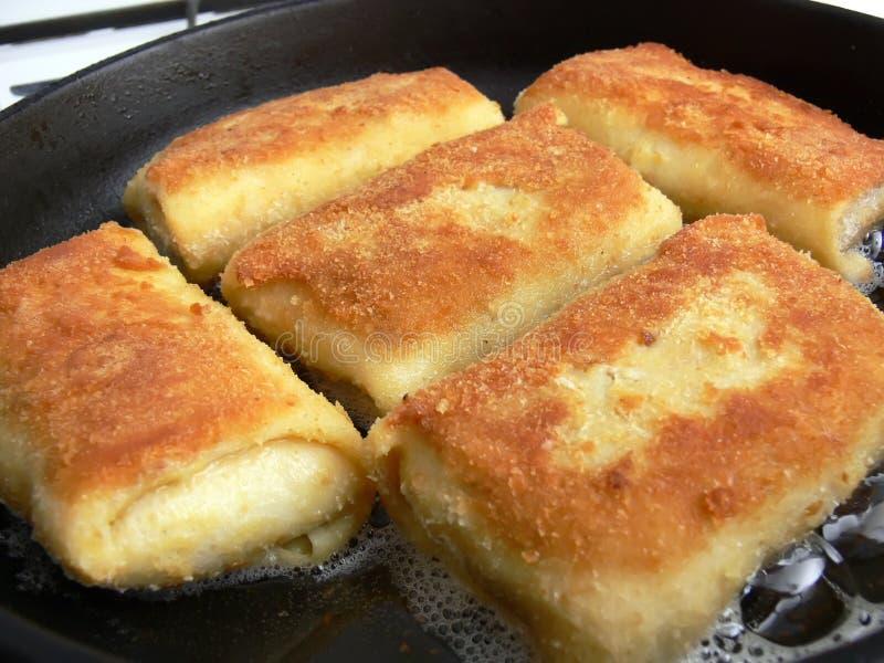 Crocchette fritte fotografia stock