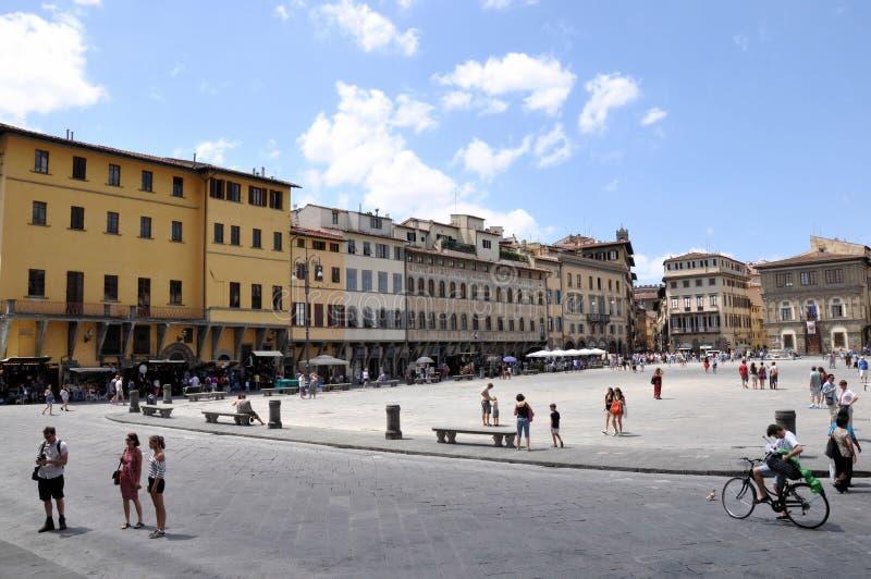 croce二佛罗伦萨广场圣诞老人 库存照片