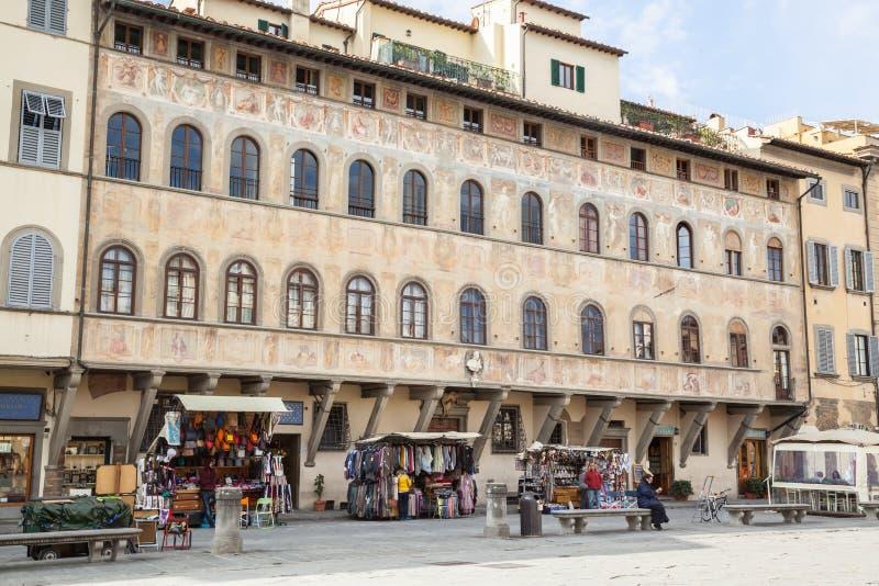 croce二佛罗伦萨广场圣诞老人 库存图片