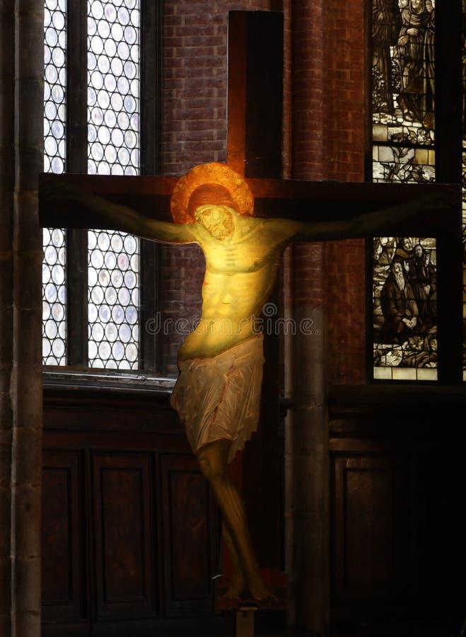 Croce nella chiesa di Venezia fotografia stock