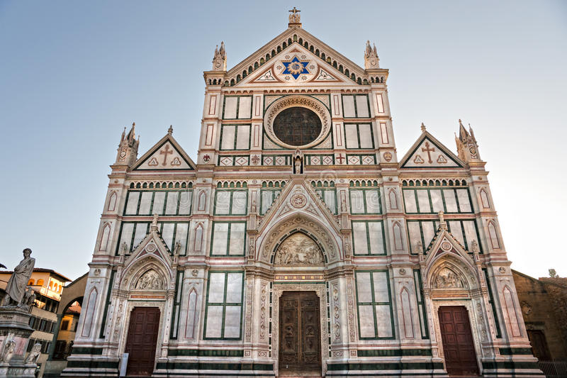 croceflorence santa tuscany sikt arkivbild
