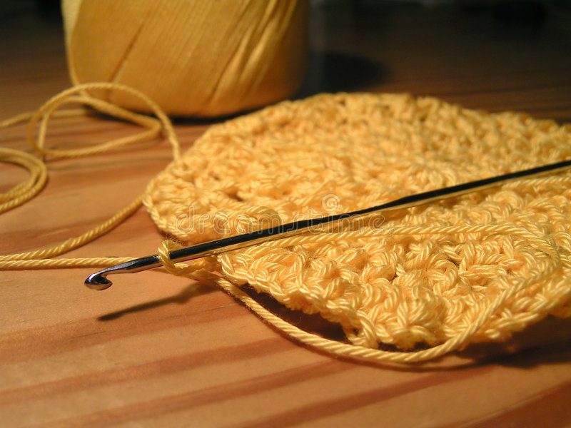 Crochet & crotchet fotografia stock
