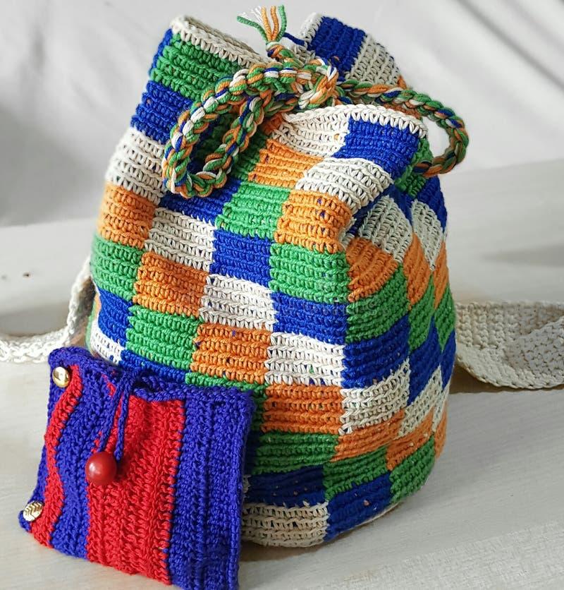 Crochet bag stock photography