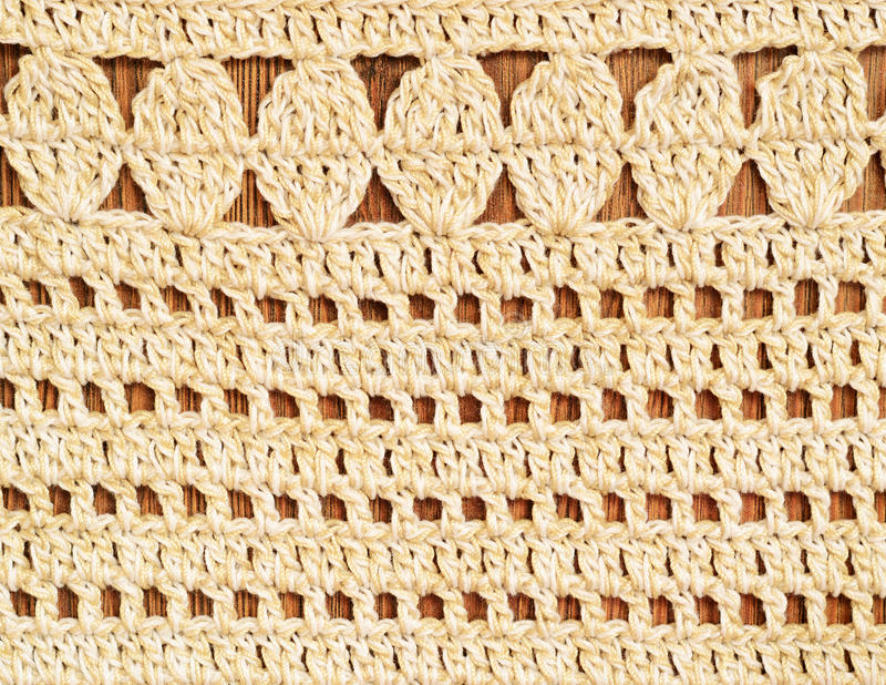 Fundo do Crochet fotografia de stock