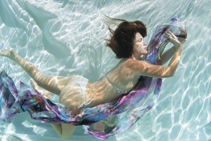 With Crochet Bikini modelo fotografia de stock royalty free