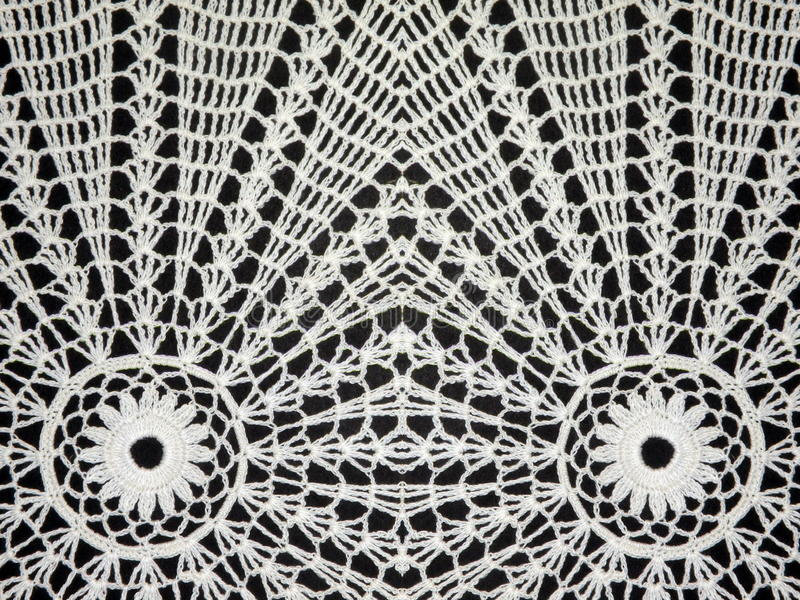 Crochet blanc images libres de droits