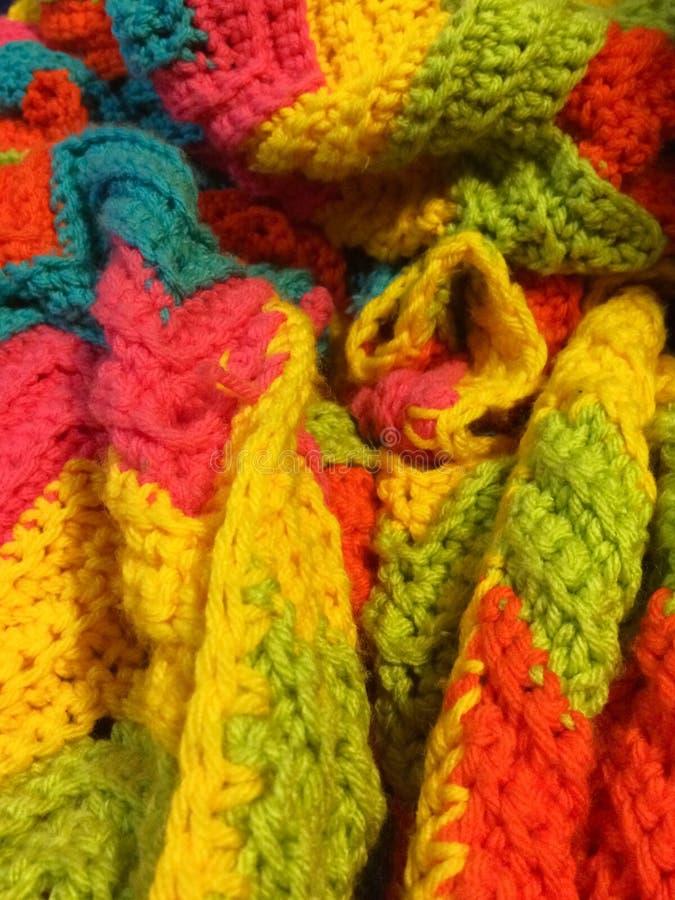 Crochet Blanket. Crochet homemade blanket royalty free stock image
