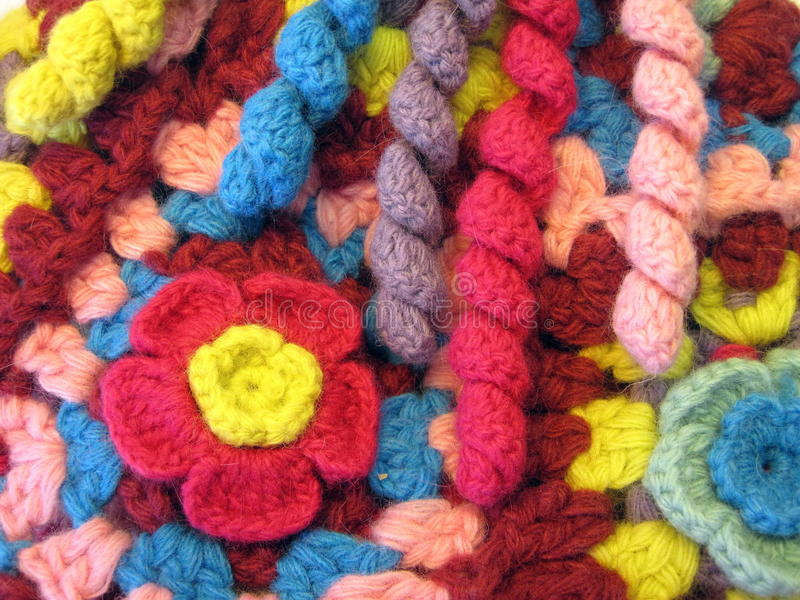 Crochet coloré photographie stock