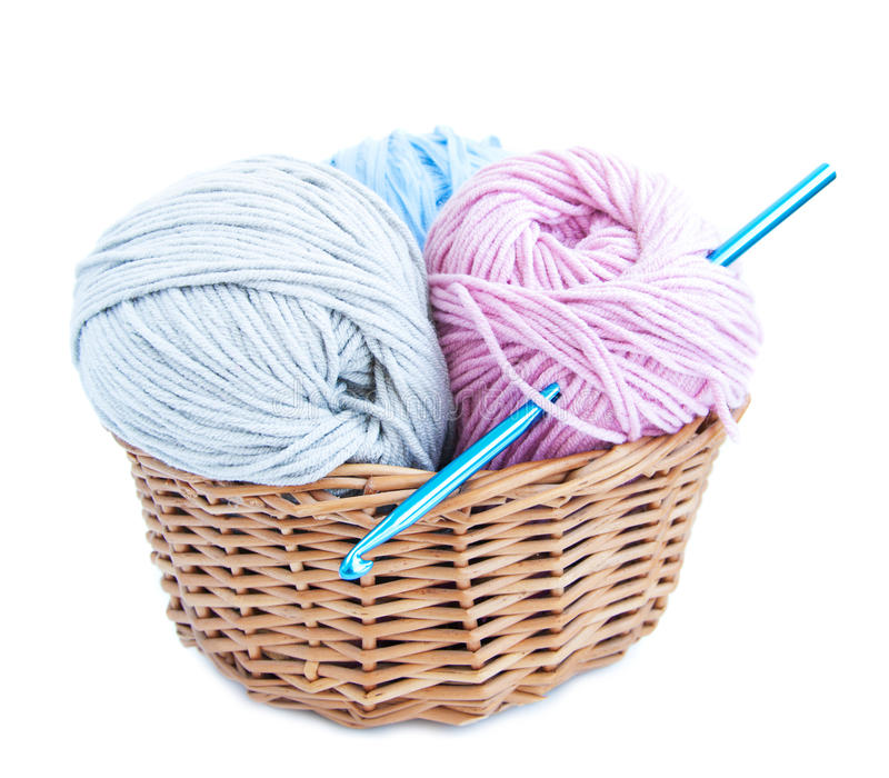 Crochet et filé de crochet photographie stock libre de droits