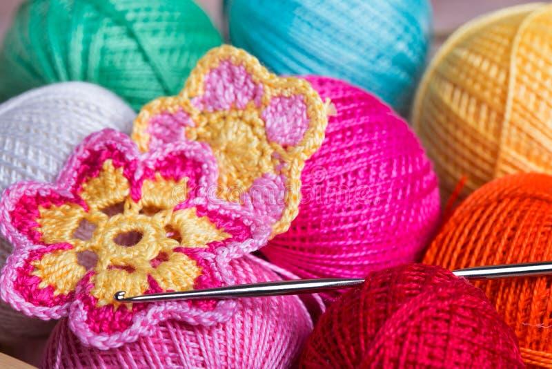 Crochet, foyer mou photo stock