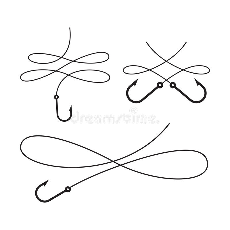 Crochet noir graphique, vecter illustration stock