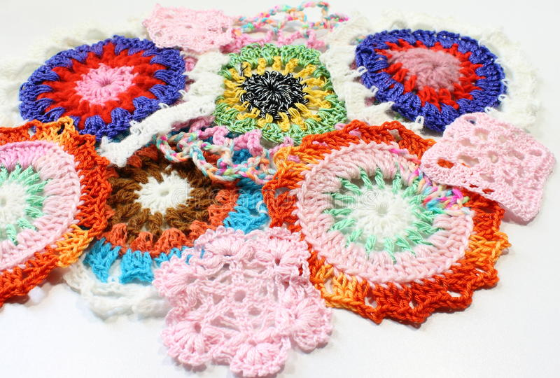 Crochet patterns of thread stock photography