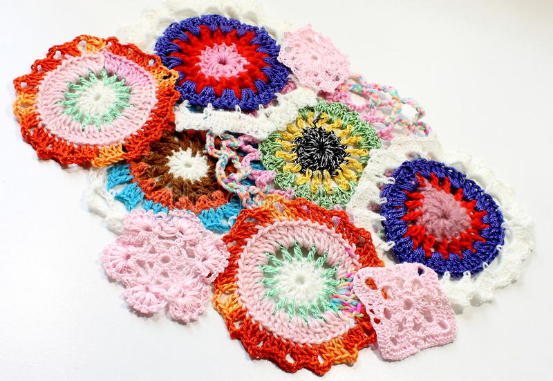 Crochet Patterns Of Thread Stock Image Image Of Colors 52426723
