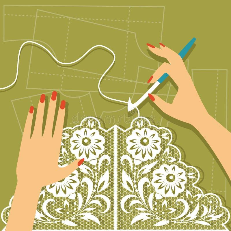 crochet również zwrócić corel ilustracji wektora royalty ilustracja