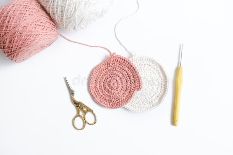 Crochet rose image stock
