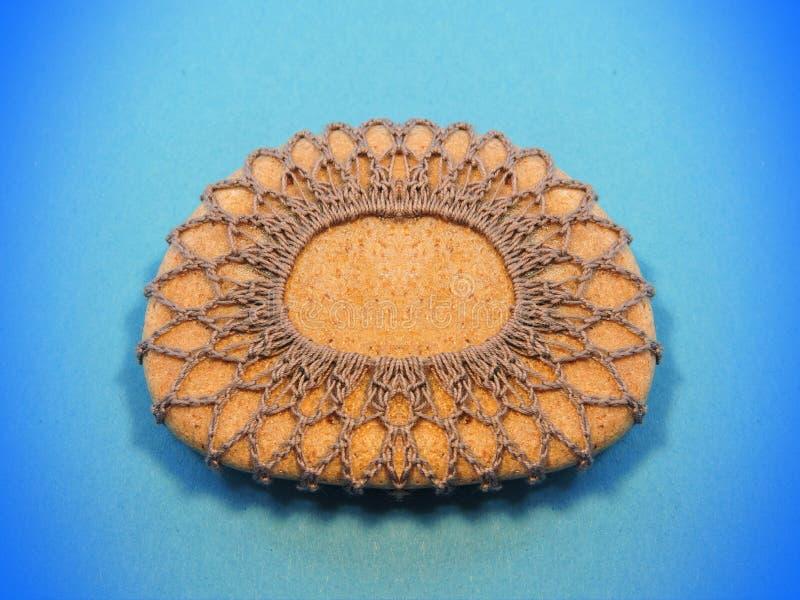 Crochet stone royalty free stock photography