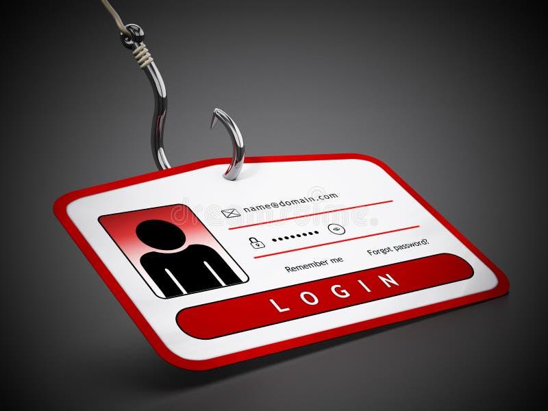 Crochet sur la carte d'identification avec des qualifications d'ouverture illustration 3D illustration libre de droits