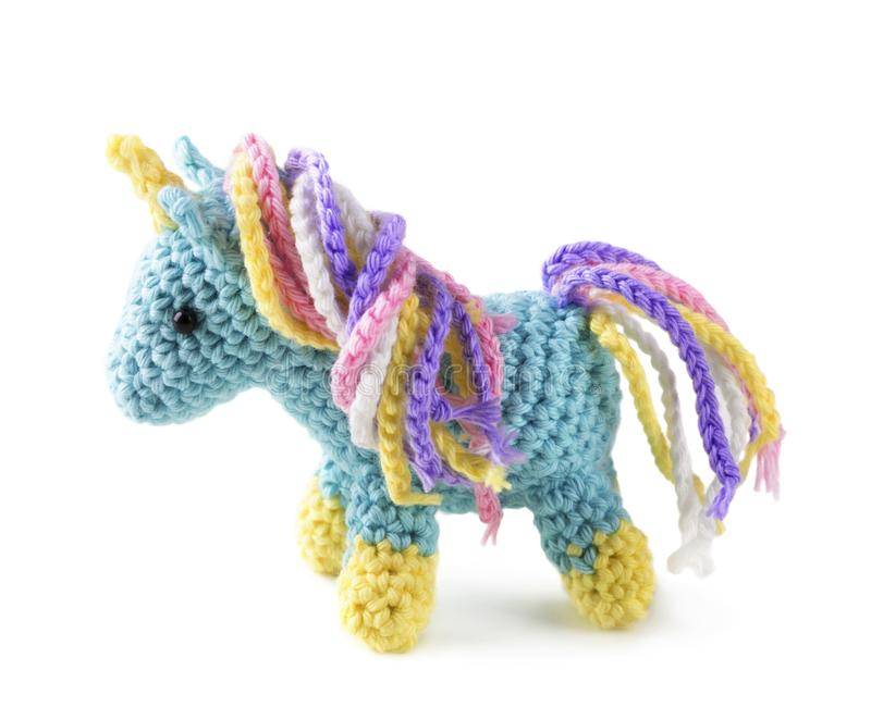 Crocheted amigurumi toy stock photos