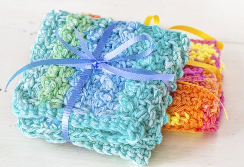 Crocheted Dishcloths stock photos