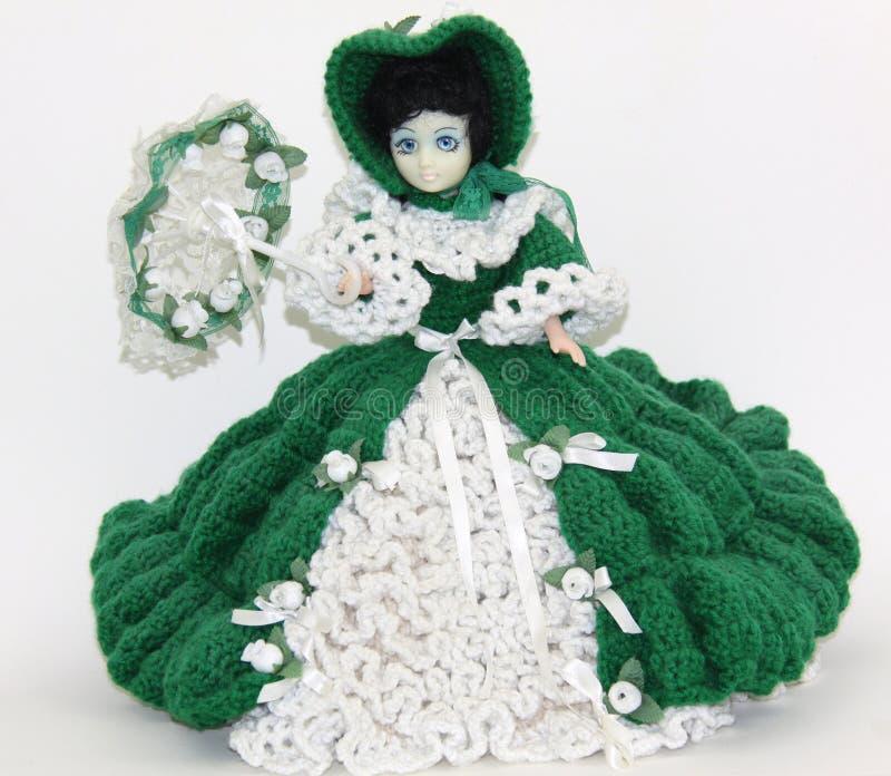 Crocheted doll royalty free stock photo