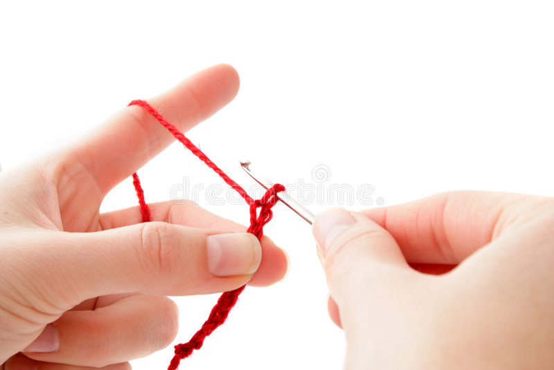 Crocheting imagens de stock royalty free