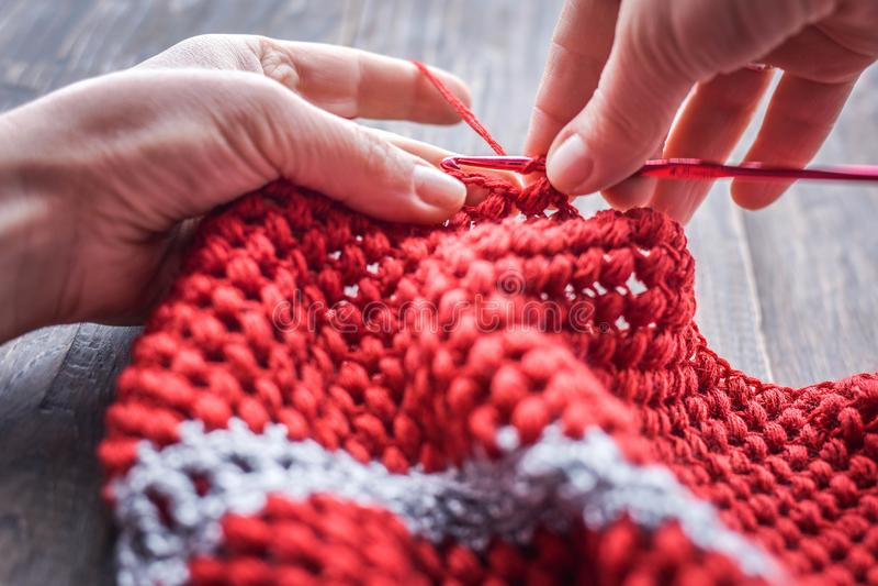 crocheting imagem de stock royalty free