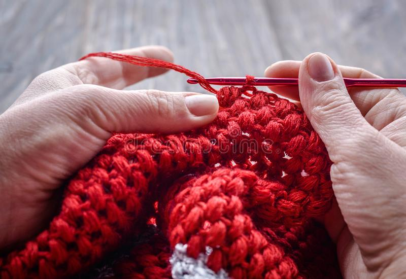 crocheting fotos de stock