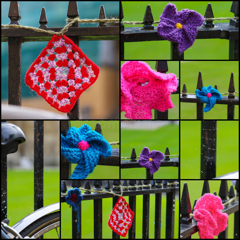 Download Crochets On Iron Fence Set Collage Stock Image - Image of background, fence: 34433147