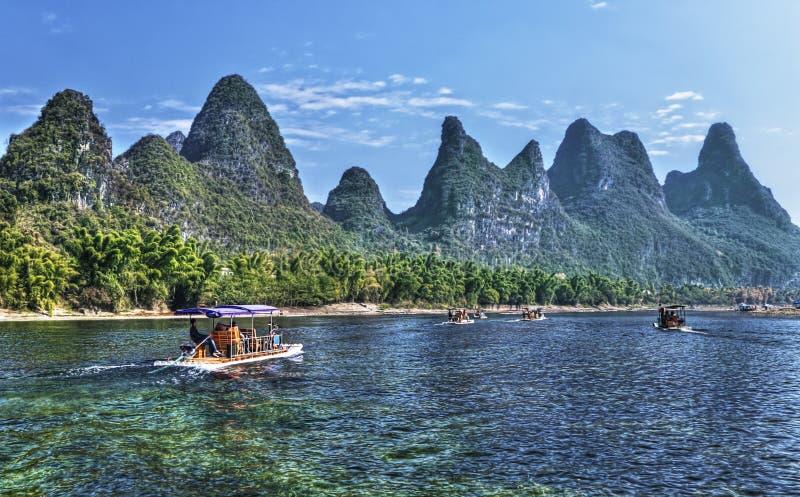 Crociera del fiume della Cina Guilin Li fotografia stock libera da diritti