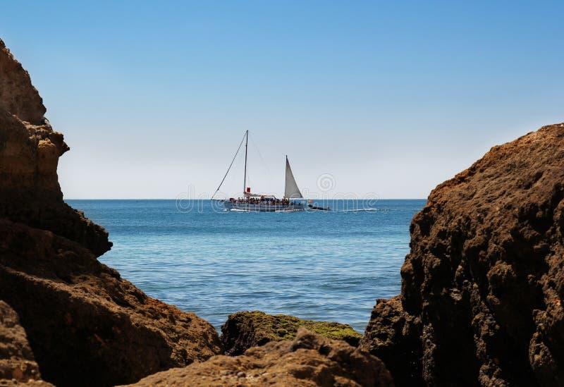 Crociera della barca fotografia stock