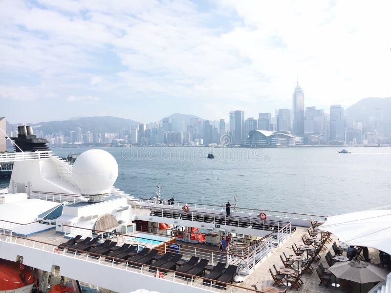 Crociera nella prova HK fotografie stock libere da diritti