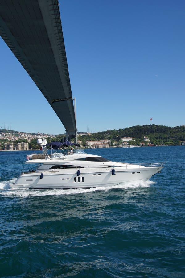 Download Crociere Della Barca Del Centro Commerciale Sotto Il Ponte Di Bosphorus Immagine Editoriale - Immagine di ponticello, barca: 55350260