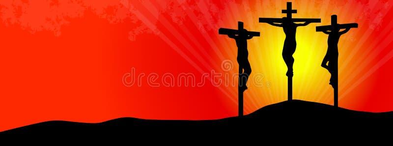 Crocifissione di Cristo illustrazione di stock