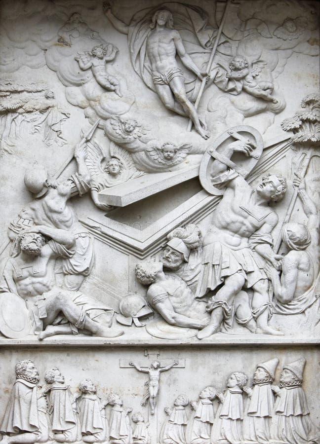 Crocifissione e resurrezione immagine stock libera da diritti