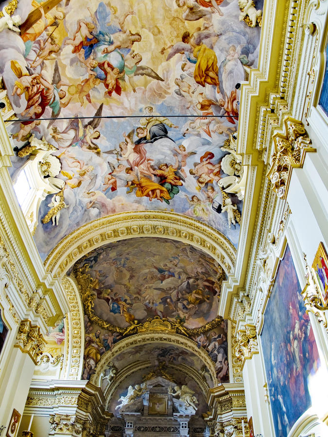 The Crocifisso church in Casa Santuario di Santa Caterina. Siena, Italy stock image